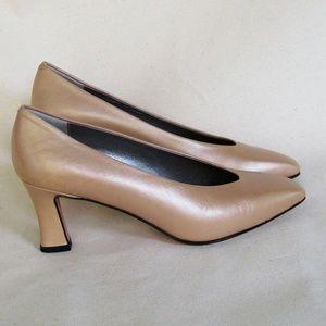Amalfi champagne pumps medium heels